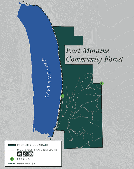 east moraine oregon community forest map